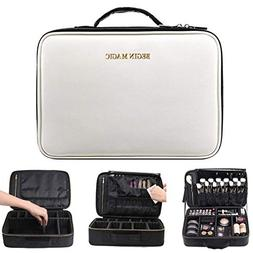 BEGIN MAGIC Portable Makeup Train Case/Travel Makeup Bag/Pro