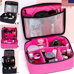 Portable Travel Cosmetic Makeup Bag Organizer Storage Toilet