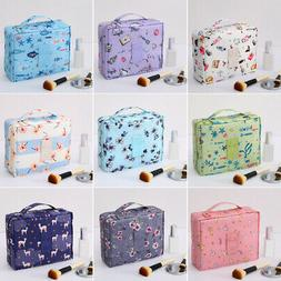 Portable Travel Cute Makeup Bag Cosmetic Detachable Interlay