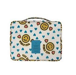 Flyusa Portable Waterproof Colorful Printed Travel Pouch Toi