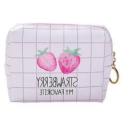 HOYOFO Travel Cosmetic Pouch Waterproof Cute Makeup Bag Stra