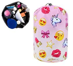 BAGOOE Printed Darwstring Quick Pack Travel Toiletries Cosme