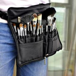 Pro PU Leather Makeup Bag 28 Pocket Cosmetic Brushes Case Be