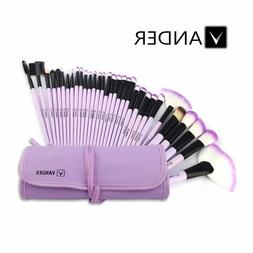 Profession 32pcs Purple Beauty Makeup Brushes Accessories Se