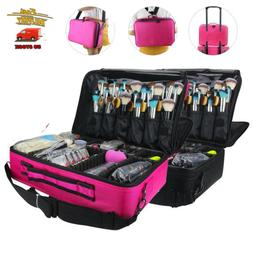Professional L/M Size Makeup Organizer Cosmetic Bag Large Ca