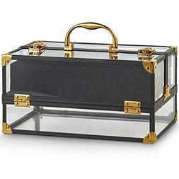 Beautify Professional Large Lockable Acrylic Vanity Makeup C
