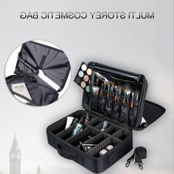 Professional Makeup Organizer Bag Cosmetic Case Travel Large