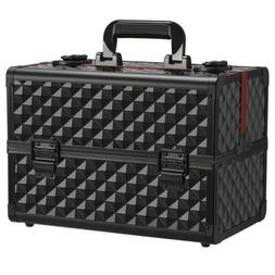 Professional Makeup Train Case Cosmetic Bag Organizer and St