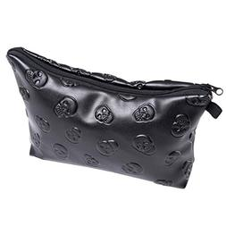 Faleto PU Leather Stylish Makeup Pouch Makeup Organizer Bag