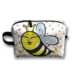 Queen Bee Travel Bag Cosmetic Bags Brush Pouch Portable Make