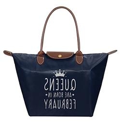 QUEENS ARE BORN IN FEBRUARY Women Stylish Waterproof Tote Sh