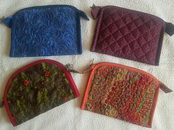 Quilted cosmetic bag. Makeup bag. Jewerly box. Purse. Handma