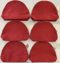 CLARINS red makeup bag cosmetic pouch travel toiletry case c
