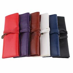 retro leather roll pen pencil case make