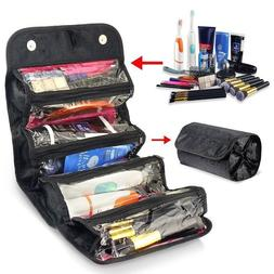 Roll Up Storage Bag Cosmetic Makeup Case Organizer Hanging T