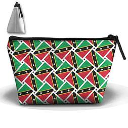 Saint Kitts And Nevis Flag Weave Pencil Case Holder Zipper P