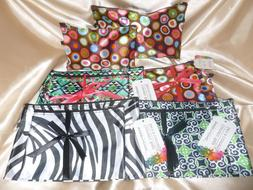 SASSY & CHIC COSMETIC BAGS 4PC LOT NWT