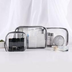 Set of 4PCS Cosmetic Makeup Toiletry Clear PVC Travel Wash B