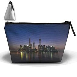 Shanghai Huangpu River Sunrise Makeup Bag Large Trapezoidal