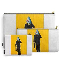 Society6 Shark Man Carry-All Pouch Set of 3