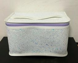 Clinique Skincare Makeup Beauty Cosmetic Train Case Bag Glit