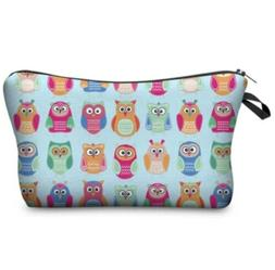 Jom Tokoy Small Cosmetic Make up Bag Owls - Multicolor