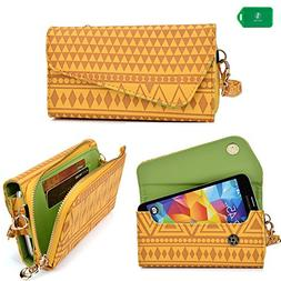 Smartphone holder with wallet/wristlet and crossbody chain i