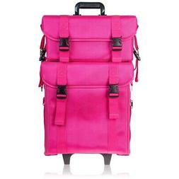 SHANY Soft Makeup Artist Rolling Trolley Cosmetic Case with