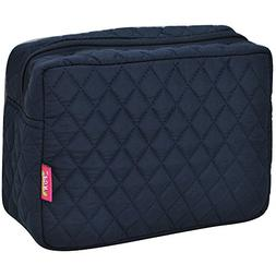 Solid Color Print NGIL Quilted Large Cosmetic Travel Pouch