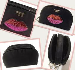 Victoria's Secret Love Patch On The Go Double Zip Cosmetic B