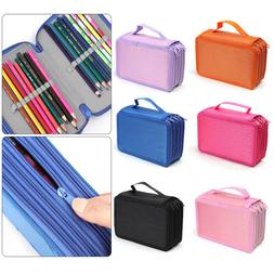 Storage Colorful Makeup Pouch Pen Holder Cosmeti Bag 72 Slot