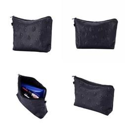 HOYOFO Stylish Makeup Pouch Portable Cosmetic Bag Purse BLAC