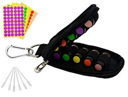 Stylish Essential Oil Key Chain Come with 10 Amber Vials Bot