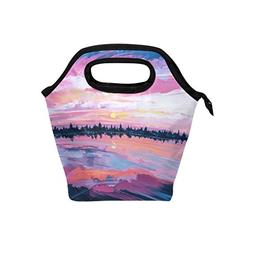 Voovc Art of Sunrise Lunch Bag/Lunch Box/Lunch Tote/Picnic B