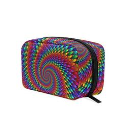 Toiletry Bag Funny Hippie Womens Beauty Makeup Case Brush Co