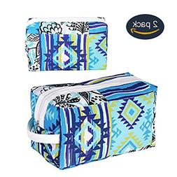 Large Toiletry Organizer Bag Set, Polyester Leather Portable