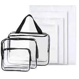 Set of 7 Travel Toiletry Bags - Clear Make-up Bags 65641f66f7736