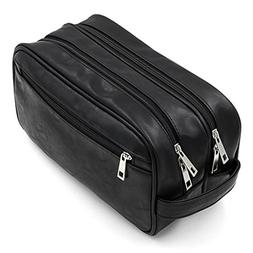 Toiletry Bags, Sumnacon Unisex PU Leather Waterproof Travel