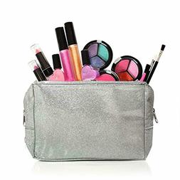 Toys Kids Washable Makeup Set with A Glitter Cosmetic Bag Ba