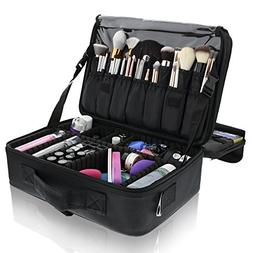 Primalour Large Makeup Train Case - Professional Travel Make
