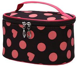 Magictodoor Makeup Train Case Cosmetic Bag Travel Storage Ca