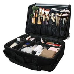 travel inspira Makeup Train Case 3 Layers Large Capacity Cos