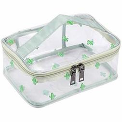 Train Cases Clear Travel Cosmetic Bag Makeup Organizer With