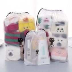 Transparent Cartoon Animal Cat Drawstring <font><b>Bag</b></