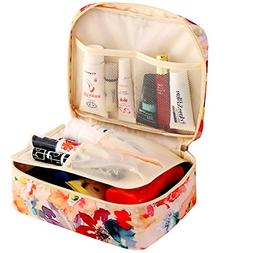 HiDay Travel Cosmetic Bag Toiletry Organizer Floral Makeup P