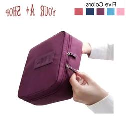 Travel Cosmetic Bag Toiletry Wash Zip Pouch Multi Function W