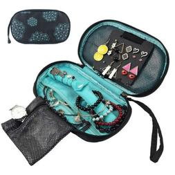 Travel Cosmetic Jewelry Bag Necklace Ring Storage Case Pouch