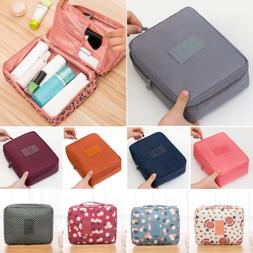 Women Traveling Outgoing Cosmetic Makeup Bag Zipper Toiletry