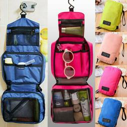 Travel Cosmetic Storage MakeUp Bag Folding Hanging Toiletry