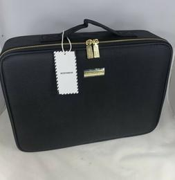"ROWNYEON Travel Makeup Bag Cosmetic 16"" Large Train Case Art"